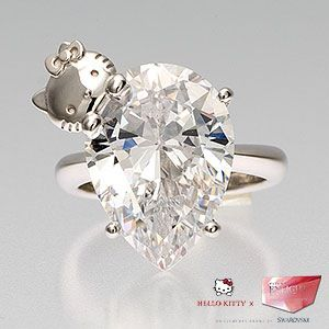 a hello kitty engagement ring ohhh my! pretty awesome i think lol: Kitty Diamonds, Diamonds Rings, Hello Putty, Kitty Engagement, Dreams Engagement Rings, Jewelry, Wedding Rings, Dreams Rings, Hello Kitty