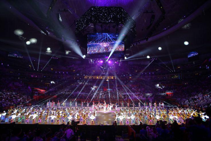 Moments of the 24th Men's Handball World Championship at Lusail Multipurpose Hall  لقطات من حفل ختام بطولة العالم الرابعة والعشرون لكرة اليد للرجال في صالة لوسيل متعددة الإستخدامات  #LiveitWinit