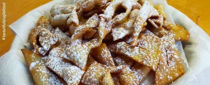 http://beautifulpuglia.com/chiacchiere-recipe/ It's finally Carnival and, according to the Italian tradition, it's also time to enjoy one of our best favorite recipe, the Chiacchiere! This is a typical dessert that is prepared all over Italy during the Carnival season, although its name can vary depending on the region (frappe, cenci, bugie, crostoli, etc.).