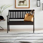 Elaine Wooden Storage Bench