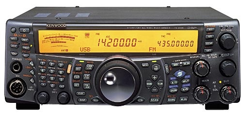 Kenwood TS 2000 HF/VHF/UHF Ham Radio Transceiver in use at WW5XX