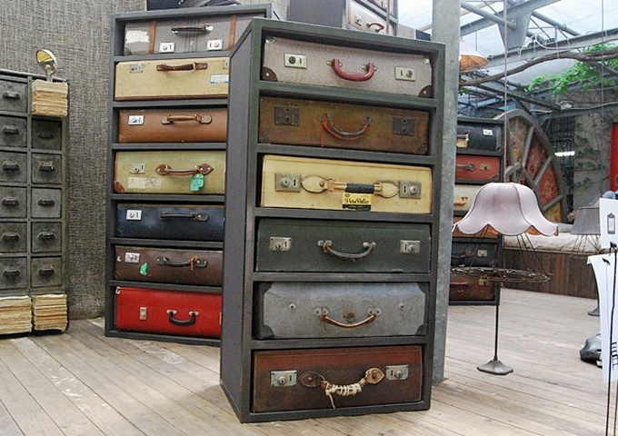 suitcase draws