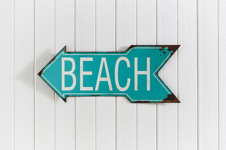 WALL PLAQUE BEACH  - AQUA