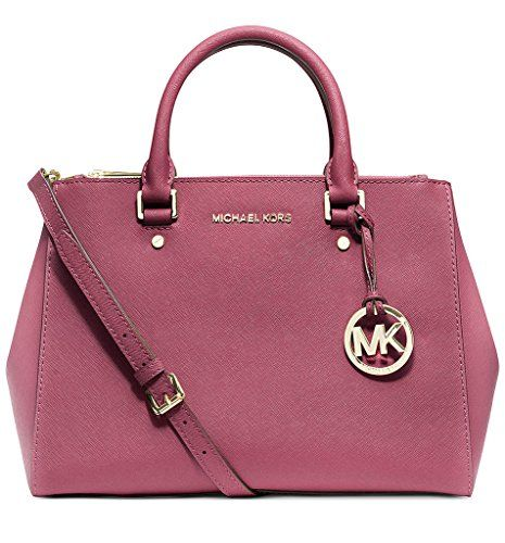 MICHAEL Michael Kors Womens Sutton Medium Satchel Tulip *** Click image for more details. (This is an Amazon affiliate link)