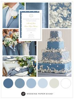 Unique Dusty Blue Wedding Theme Ideas   Wedding Paper Divas
