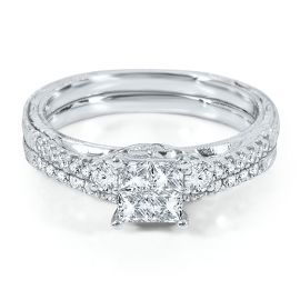 my ring helzberg diamond symphonies mosaica ct diamond engagement ring set in gold available at - Helzberg Wedding Rings