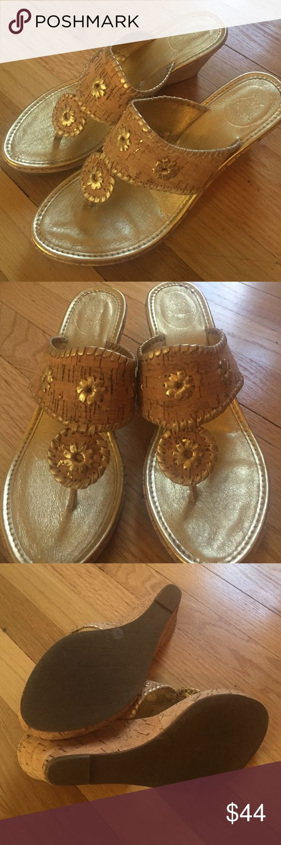 Jack Rogers gold espadrilles size 10 New and only worn once. Jack Rogers gold espadrilles. Perfect for summer and spring. Jack Rogers Shoes Espadrilles