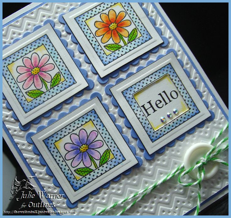 Hello Spring cu9185: Hello Spring, Spring Cu9185, Card Samples, Write Stuff