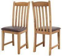 Salisbury Oak Dining Chair with Pu Seat
