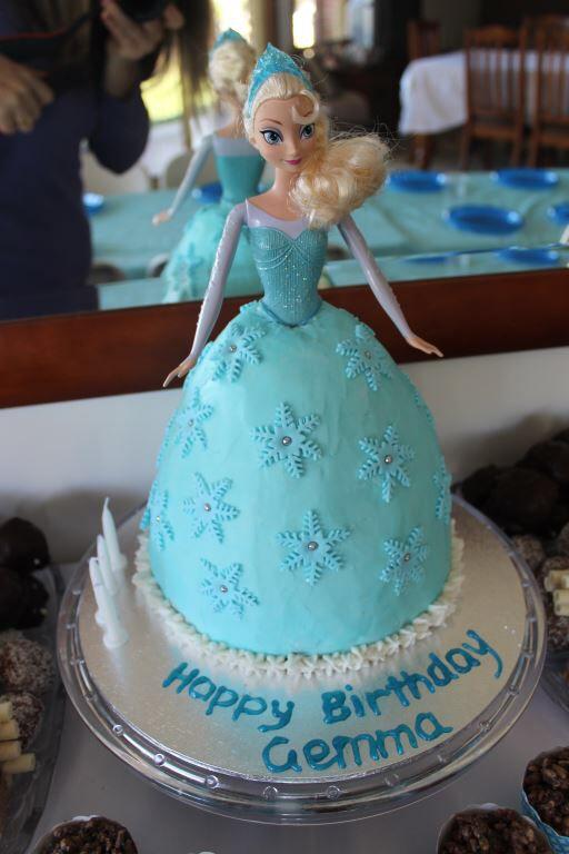 Elsa doll cake frozen birthday party