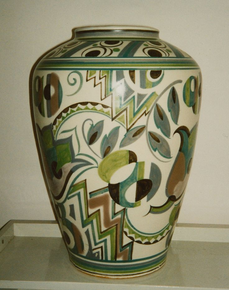 Art Deco Poole Pottery Vase 1930s 14''