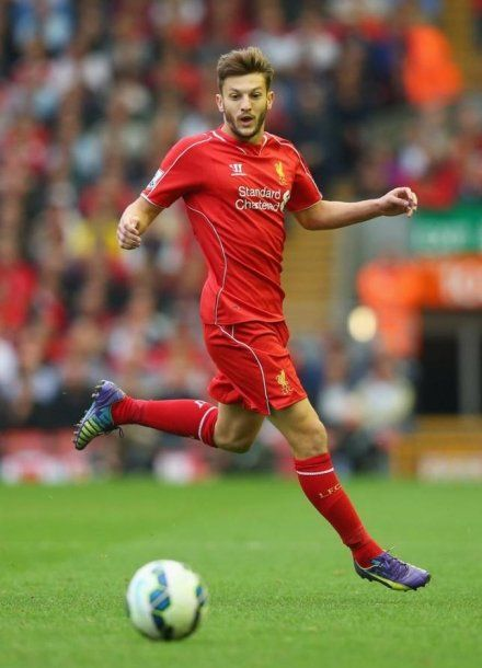 Adam Lallana of Liverpool FC against Aston Villa