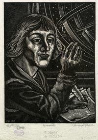 Portret Mikołaja Kopernika z astrolabium - Rolicz, Stanisław (1913-1997)