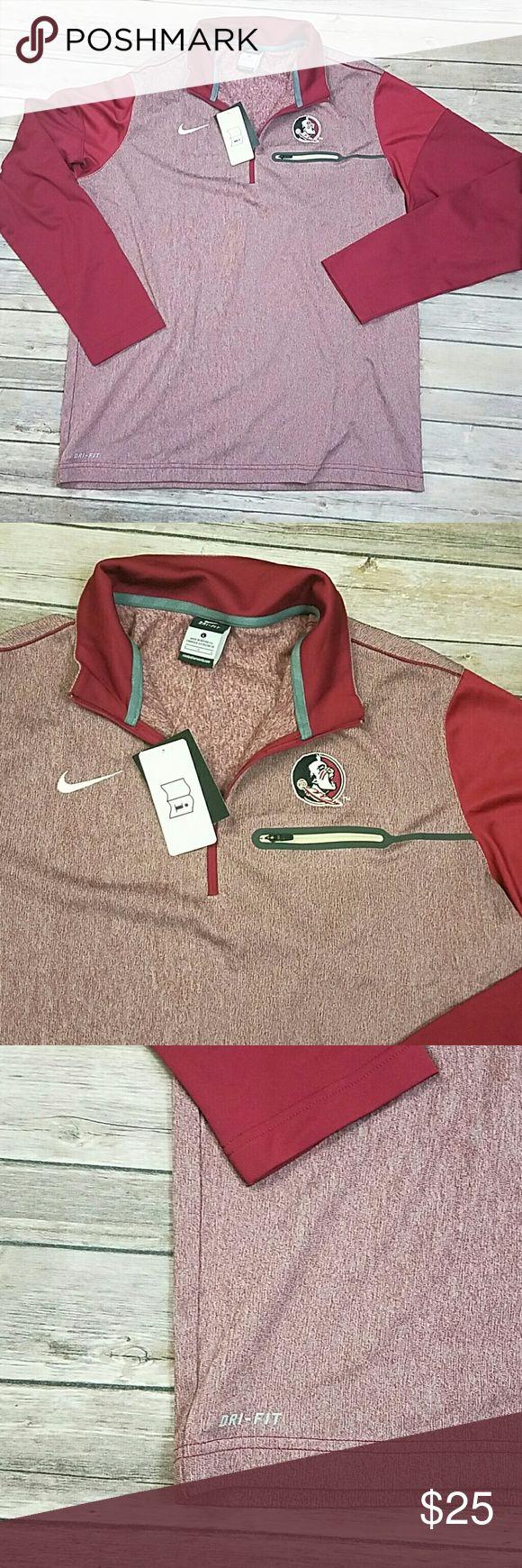 Nike dri-fit FSU jacket brand new FSU football jacket men's large 51% rayon 43% polyester 6% spandex Nike Jackets & Coats Lightweight & Shirt Jackets