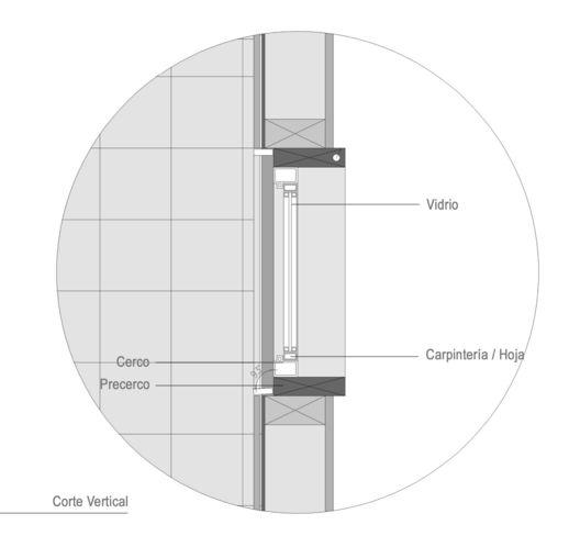 Materiales: Ventanas, Componentes y Detalles,Detalle Ventana, Carpintería PVC. Casa Gauayacán / Matias Ruiz Malbran