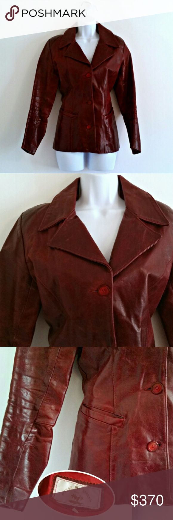 Vintage 70s Leather Jacket from Paris Size XS Lush