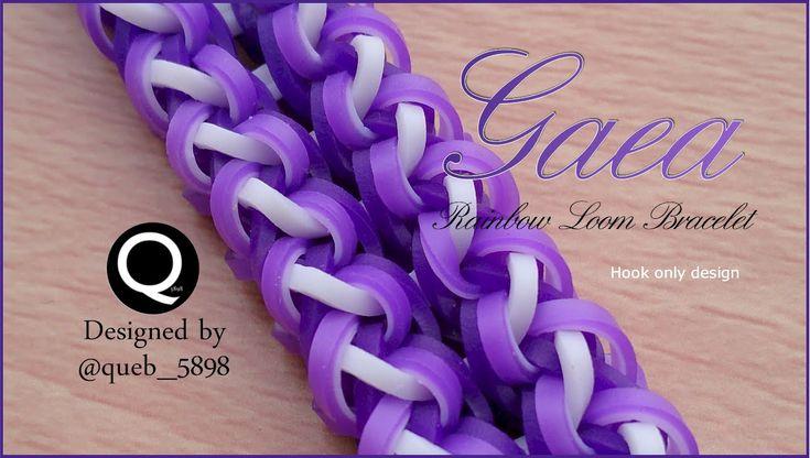 Gaea Rainbow Loom Bracelet - hook only