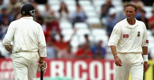 Donald to Atherton in '98: irresistible force meets immovable object. One of the most compelling Test cricket I've seen. When the rookie Boucher dropped Atherton, that was definitely the most apocalyptic I've seen a fast bowler.