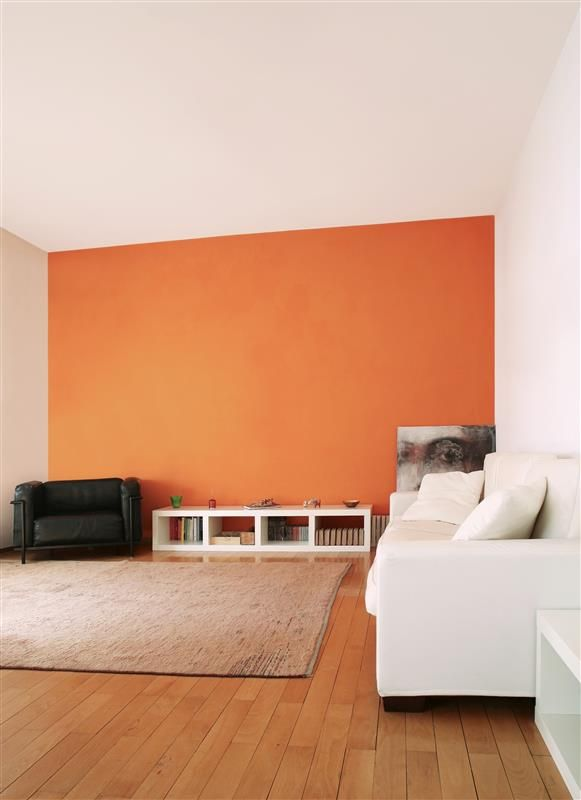 un pan de mur orange couleurs de