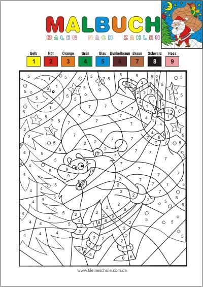 Kostenlose Malvorlagen für Kinder   Malen nach Zahlen ...