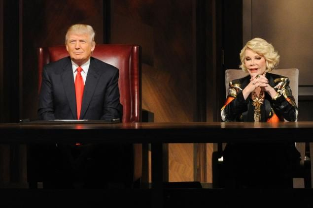 Donald Trump and Joan Rivers on 'Celebrity Apprentice.'