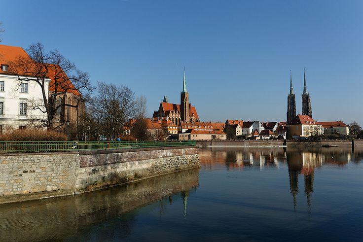 Widok na Ostrów Tumski, Wrocław