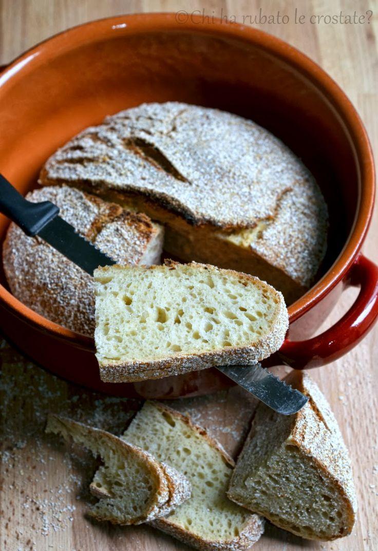 Chi ha rubato le crostate?: Pane senza impasto al Kamut (lievitazione naturale)