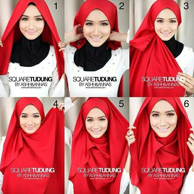 Square Tudung Tutorial