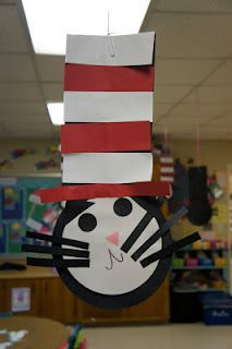 Cat in the Hat Using Basic Shapes! (We may do this tomorrow in prep for Read Across America! Hmmm