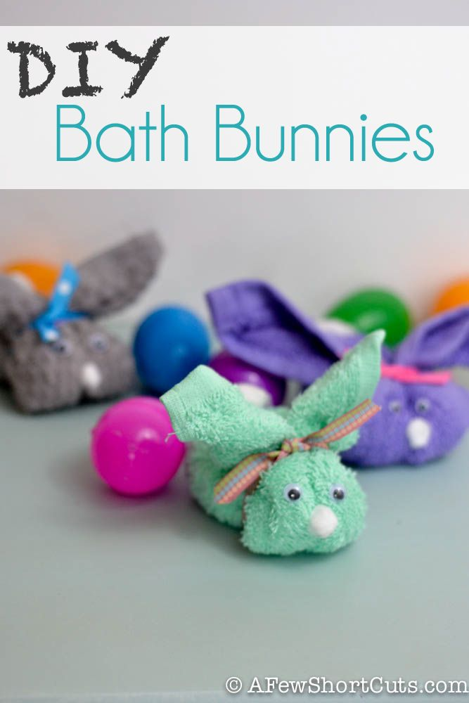 These are perfect for the Easter Basket or just bath time fun. Make these simple DIY Bath Bunnies