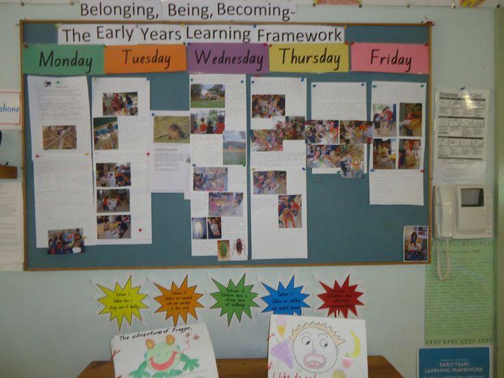 EYLF BBB board display weekly reflection