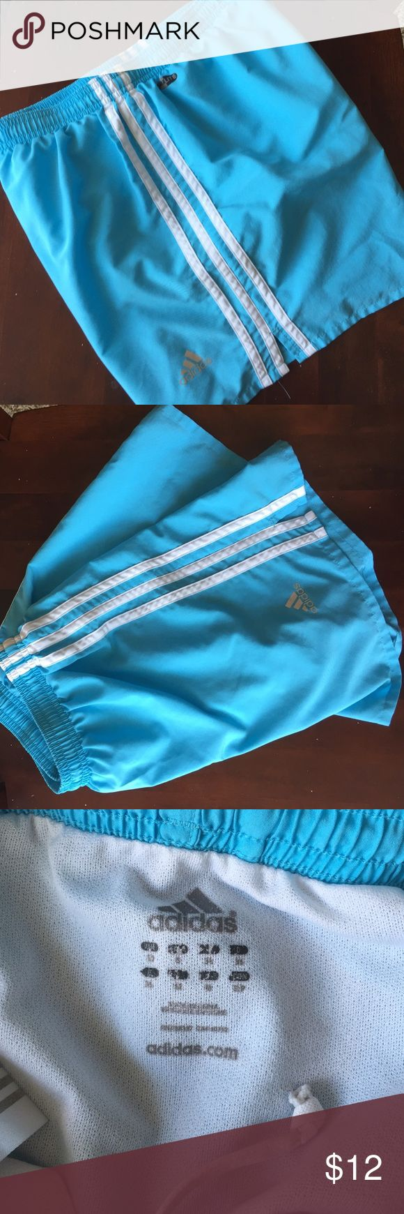 Light blue adidas shorts Light blue adidas shorts, size small. Only area that looks worn is the inside tag (see image). Otherwise, like new! adidas Shorts