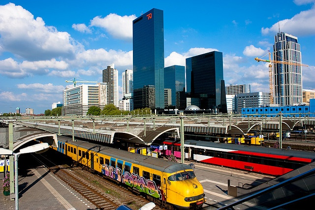 Centraal station of Rotterdam.(This is tie old one they bild a new now)