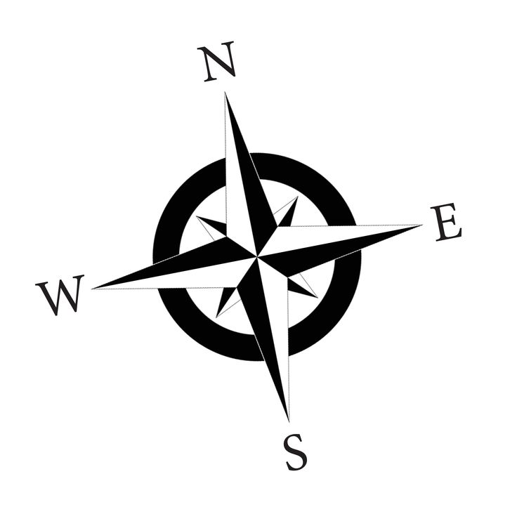 Compass-rose-nsew-bw-final.jpg - Cliparts.co