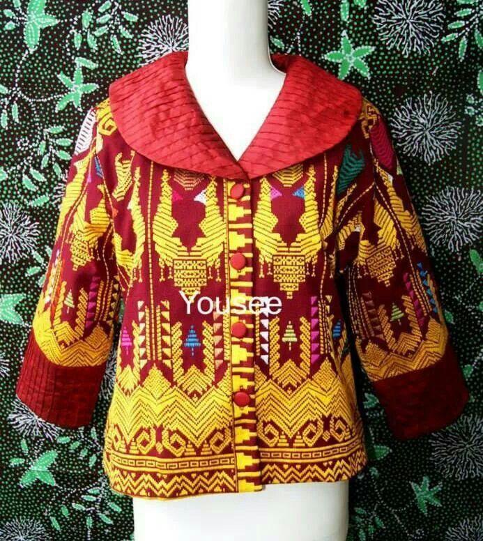 tenun blouse semi blazer