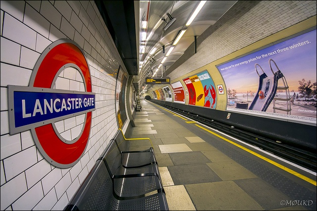 Lancaster Gate Tube Station - London Underground by John - M0UKD, via Flickr