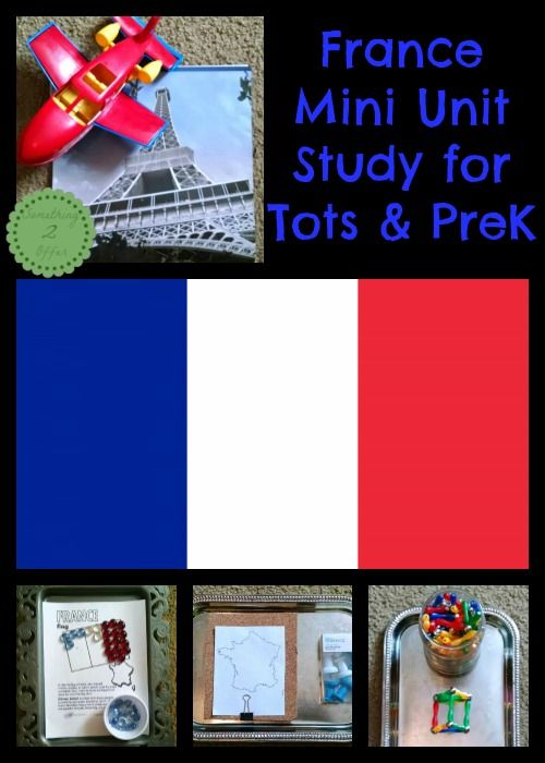 France Mini Unit Study for Tots and Preschool| Fun activities including work trays and fine motor activities to learn all about France