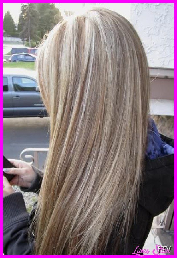 cool Brown lowlights in blonde hair