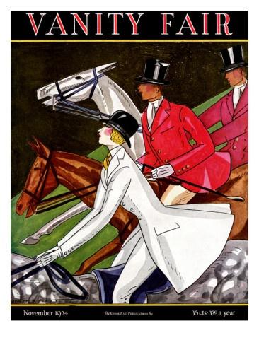 Vanity Fair Cover - November 1924 Premium Giclee Print