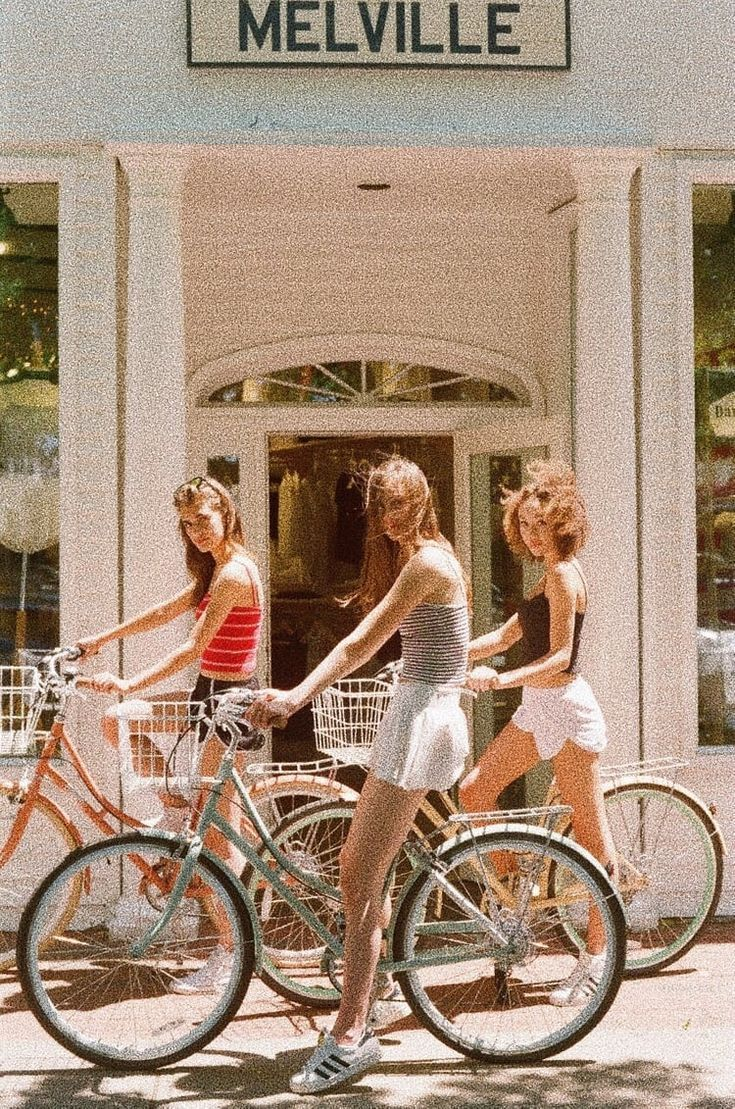 Melville On Bike Friends Summer Aesthetic Retro Aesthetic Aesthetic Vintage