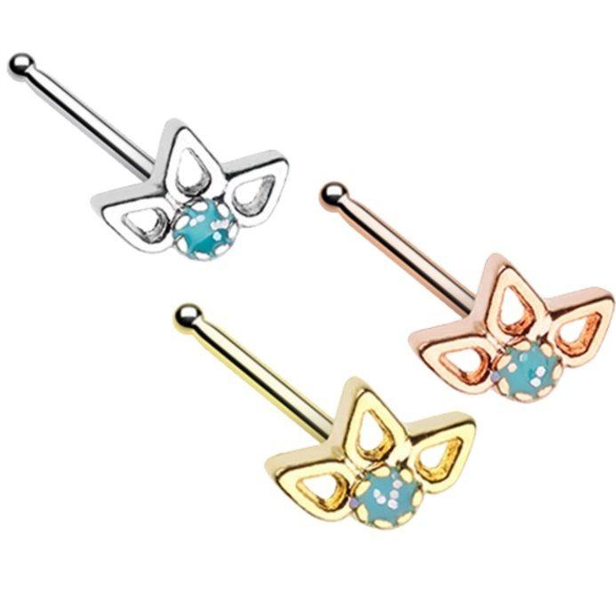BodyDazz.com - Sparkling Lotus Top Nose Ring Stud 20G, $6.99 (http://www.bodydazz.com/sparkling-lotus-top-nose-ring-stud-20g/)