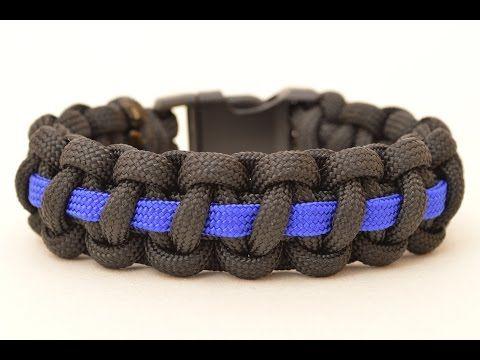 Police Thin Blue Line Paracord Survival Bracelet