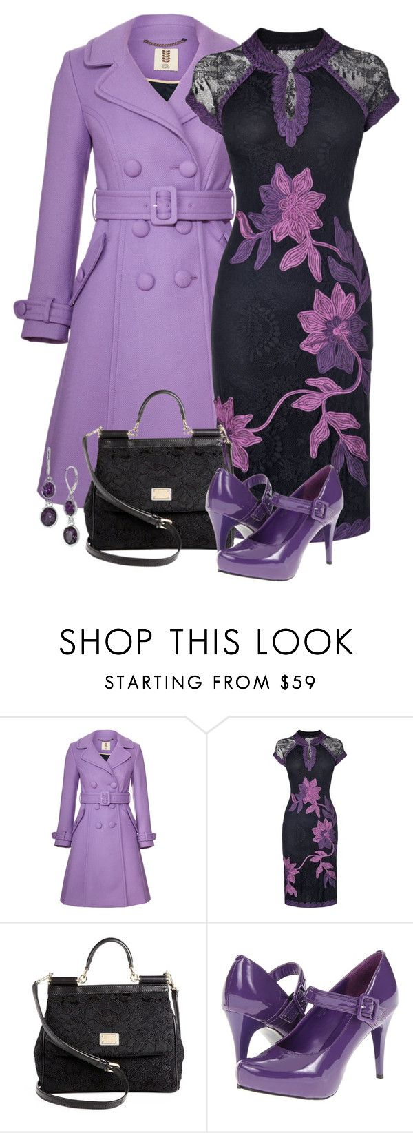 """""""Phase eight - black/purple"""" by mommygerloff ❤ liked on Polyvore featuring Orla Kiely, Phase Eight, Dolce&Gabbana, Gabriella Rocha and Lonna & Lilly"""