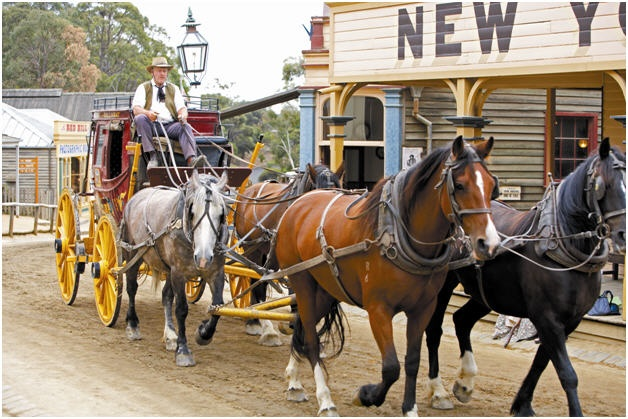 Experience the Gold Rush at Sovereign Hill, Ballarat.