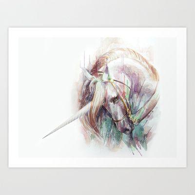 Unicorn+Art+Print+by+Beart24+-+$20.80