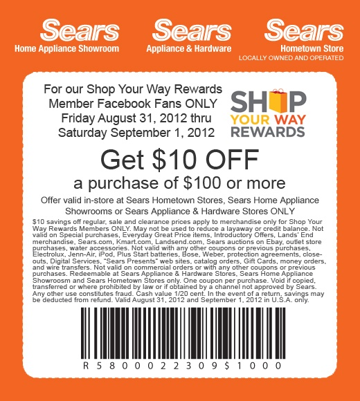 Sears Print Coupons 2018 17 Day Diet Freebies
