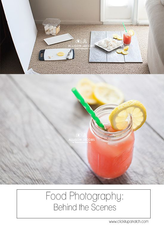 Food photography - Behind the Scenes via Click it Up a Notch. Great budget-friendly ideas for food photography.