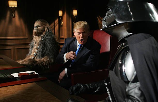Donald Trump journeys to a galaxy far far away as for a special episode of 'The Apprentice' featuring Lucasfilm Ltd's 'Star Wars Episode III Revenge...