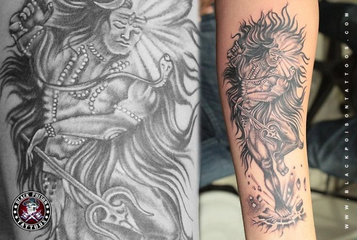 Dancing Shiva Tattoo - Black Poison Tattoo Studio
