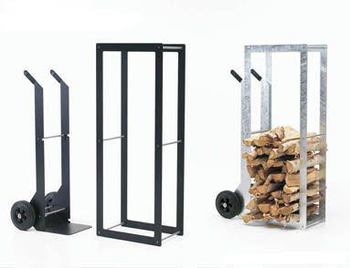 Holz-Regal / Karren WoodStock von Wynants im Designlager in Dümen.
